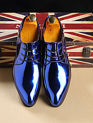 cheap -Men's Dress Shoes Derby Shoes Spring / Summer / Fall Business / Casual Daily Party & Evening Office & Career Oxfords Walking Shoes PU Non-slipping Wear Proof Red / Gold / Blue / Winter