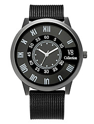 cheap -Men's Sport Watch Quartz Silicone Black No Chronograph Cute Creative Analog Outdoor New Arrival - Black Black / White One Year Battery Life