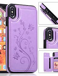 Недорогие -роскошный кожаный чехол для телефона для iphone xs max xr xs x держатель бумажника с тиснением цветок сумка для телефона для iphone 8 плюс 8 7 плюс 7 6 плюс 6 чехол