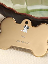 cheap -Personalized Customized Bulldog Dog Tags Classic Gift Daily 1pcs Gold Silver Rose Gold