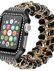 Недорогие -Ремешок для часов для Серия Apple Watch 5/4/3/2/1 Apple Спортивный ремешок / Дизайн украшения Нержавеющая сталь / силиконовый Повязка на запястье
