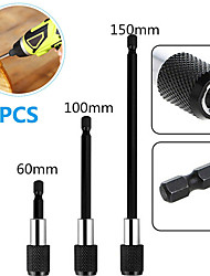 cheap -3pcs magnetic screwdriver extension quick release 1/4in hex shank holder drill bit(black)