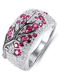 cheap -Women's Ring 1pc Pink Imitation Diamond Alloy Korean Fashion Cute Daily School Jewelry Vintage Style