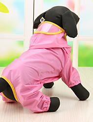 cheap -Dog Coat Hoodie Rain Coat Waterproof Cute Outdoor Dog Clothes Costume Baby Small Dog Terylene S M L XL
