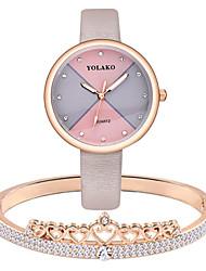 cheap -Women's Quartz Watches Analog Quartz Fashion Chronograph Casual Watch Adorable / One Year / PU Leather