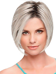 cheap -Synthetic Wig Straight Emma Bob Pixie Cut Short Bob Wig Short Silver Synthetic Hair 12inch Women's Soft Heat Resistant Classic Silver
