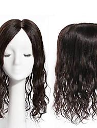 abordables -Laflare Cheveux Brésiliens Partie gratuite Ondulé Moyen Partie Dentelle Suisse Cheveux Naturel humain Femme Homme / Meilleure qualité / Nouvelle arrivee Mariage / Soirée / Occasion spéciale