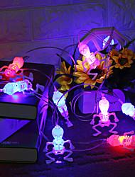cheap -10 LED Halloween String Lights Decorations Halloween Skeleton Lights Skull Pumpkin Eyeball Lights Battery Indoor Outdoor Multicolor