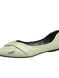cheap -Women's Flats Flat Heel Pointed Toe PU / Synthetics Fall / Spring & Summer Black / Green / Beige