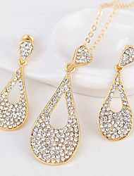 cheap -Women's Bridal Jewelry Sets Hollow Out Drop Stylish Earrings Jewelry Gold For Party Daily 1 set