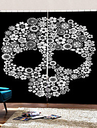 cheap -Home Decoration 3D Printing Floral Skeleton Background Curtains 100% Polyester Thickening Blackout Fabric Curtain