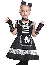 cheap -Princess Cosplay Costume Kid's Girls' Halloween Halloween Festival / Holiday Spandex Polyester / Polyamide Black Carnival Costumes