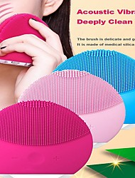 cheap -Facial Brush Sonic Brush Multi-Functional Waterproof Face Cleanser Massager US Plug