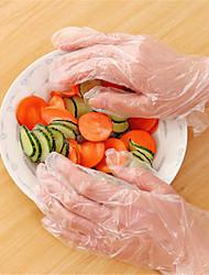 cheap -50pcs Disposable Gloves Pe Plastic Film Fingers Clean Gloves Hair Dye Gloves