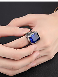 cheap -Men's Band Ring Ring 1pc Dark Blue Red Dark Green Stainless Steel Austria Crystal Stylish Vintage Trendy Party Daily Jewelry Sculpture Precious