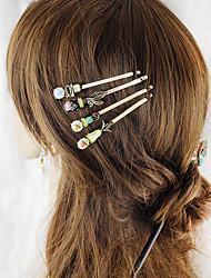 Недорогие -Жен. Украшения для волос Назначение Школа фестиваль Позолота Золотой 4.0
