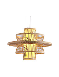 Недорогие -кантри бамбук тканые подвесной светильник столовая подвесные светильники круглый ресторан подвесные светильники фонарь подвесной светильник рассеянный свет