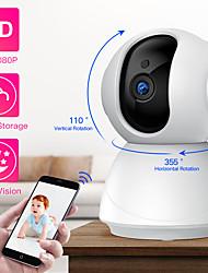 Недорогие -Sdeter HD 1080 P PTZ Беспроводная камера безопасности Wi-Fi Pan Tilt Облако хранения двусторонняя аудио IP-камера видеонаблюдения камеры видеонаблюдения ночного видения радионяня Pet камера P2P камеры