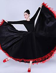 cheap -Latin Dance Bottoms / Flamenco Women's Performance Satin Scales Natural Skirts