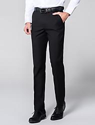 abordables -Homme Basique Costume Pantalon - Couleur Pleine Classique Noir Vin Blanche US32 / UK32 / EU40 US34 / UK34 / EU42 US36 / UK36 / EU44