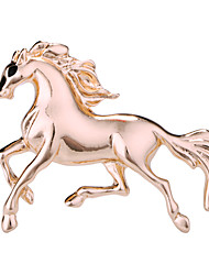 cheap -Men's Crystal Brooches Vintage Style Horse Creative Animal Luxury Classic Basic Rock Fashion Brooch Jewelry Gold Silver For Wedding Party Daily Work Club