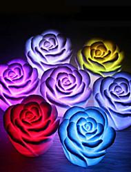 Недорогие -Роза цветок из светодиодов свет ночь меняется романтический свет свечи лампы фестиваль партия свет украшения