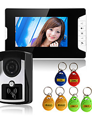 cheap -813FCID11 Wired RFID 7 inch Hands-free 800*480 Pixel One to One video doorphone