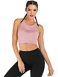 cheap -Women's Sports Bra Sports Bra Top Running Bra Elastane Zumba Fitness Gym Workout Breathable Quick Dry Sweat-wicking Violet Burgundy Pink Solid Colored / Micro-elastic / Moisture Wicking