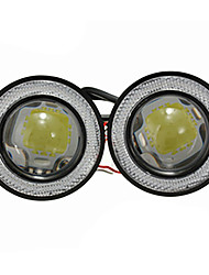 cheap -2Pcs/lot Car Fog lights Universal Waterproof 1200Lm Angel Eyes COB LED DRL Driving Lights 12V 30W Auto Fog Lamp