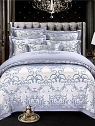 cheap -Duvet Cover Sets Geometric Cotton Jacquard 4 PieceBedding Sets