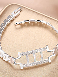 cheap -Women's Cubic Zirconia Bracelet Geometrical Vertical / Gold bar Stylish Copper Bracelet Jewelry Silver For Daily Work