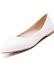 cheap -Women's Flats Flat Heel Pointed Toe Business Casual Minimalism Daily Office & Career PU Solid Colored White