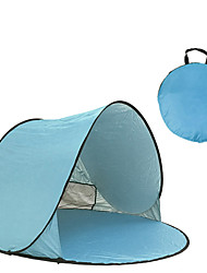 cheap -3 person Screen Tent Family Tent Outdoor Lightweight Windproof UV Resistant Single Layered Automatic Camping Tent 1000-1500 mm for Fishing Beach Camping / Hiking / Caving Coating Terylene 150*150*90