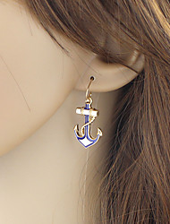 cheap -Women's Drop Earrings Hollow Out Anchor Romantic Elegant Earrings Jewelry Gold For Party Carnival Street Work 1 Pair
