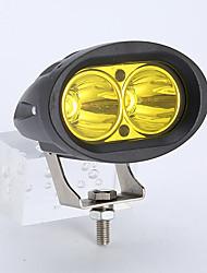 Недорогие -1 шт. 20 Вт автомобиль светодиодный двойной светоотражающий кубок лампы вождения лампа sportlight для 10-60 В постоянного тока автомобиля внедорожник