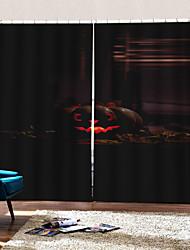 abordables -rideaux d'impression numérique de luxe uv halloween ciel personnalité originale rideau occultant rideau personnalisé prêt à l'emploi pour la décoration