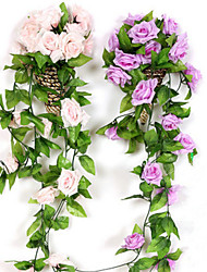 Недорогие -79 (дюйм) роза ротанга / искусственные цветы 2 ветви на стене свадебный сад роза на стене цветы