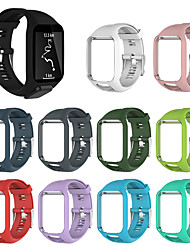 cheap -Watch Band for TomTom Multi-Sport GPS+HRM / TomTom Runner 2 / TomTom Runner 3 TomTom Sport Band Silicone Wrist Strap