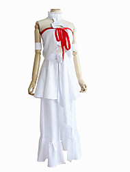 cheap -Inspired by SAO Swords Art Online Asuna Yuuki Anime Cosplay Costumes Japanese Cosplay Suits Top Dress Armlet For Women's / Ribbon / Ribbon