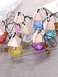 cheap -Car Perfume Bottle Air Freshener Car-styling Hanging Glass Bottle Perfume Pendant (Empty Bottle Without Essential Oil)
