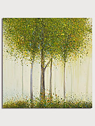 cheap -Oil Painting Hand Painted - Landscape Floral / Botanical Modern Stretched Canvas