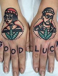 cheap -5pcs Waterproof Temporary Tattoo Sticker Sun Moon Fake Tatto Flash Tatoo Tatouage hand foot arm For Men Women girl