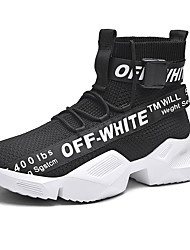 cheap -Men's Comfort Shoes Canvas Winter / Fall & Winter Sporty / Casual Sneakers Running Shoes / Fitness & Cross Training Shoes Breathable Black / White / Outdoor / Light Soles