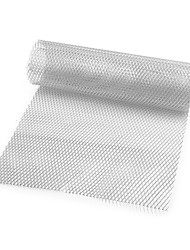 cheap -Car Silver/Black Aluminum Alloy Front Bumper Rhombic Grill Mesh Sheet (6x12mm)
