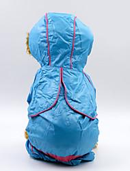 cheap -Dogs Hoodie Rain Coat Dog Clothes Waterproof Light Blue Dark Green Pink Costume Baby Small Dog Husky Labrador Alaskan Malamute Waterproof Material Polyster Color Block Solid Colored Waterproof