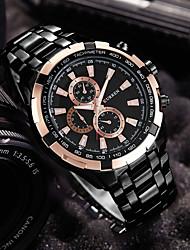 cheap -CURREN Men's Wrist Watch Aviation Watch Quartz Stainless Steel Black / Silver Analog Luxury - Black Black / White Black Two Years Battery Life / Maxell626+2025