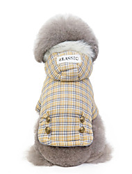 cheap -Rodents Dogs Rabbits Coat Jacket Winter Dog Clothes Blue Khaki Costume Husky Labrador Alaskan Malamute Lamb Fur Cotton Plaid / Check Quotes & Sayings Classic Classic Headwarmers S M L XL XXL