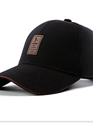 cheap -Men's Basic Cotton Baseball Cap-Solid Colored Black White Red