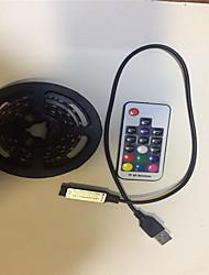 Недорогие -2м Гибкие светодиодные ленты / RGB ленты 60 светодиоды SMD5050 17-клавишный пульт дистанционного управления / 2 x соединительная линия USB 1 комплект RGB USB / Для вечеринок / Декоративная / IP65
