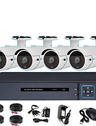 cheap -4CH AHD Coaxial Analog DVR Monitoring Set 1080P Infrared Night Vision HD Camera 2MP Shop Monitor
